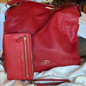 Coach Hobo bag and wristlet